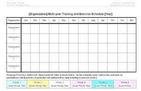 Monthly Workout Schedule Template Exercise Plan Template