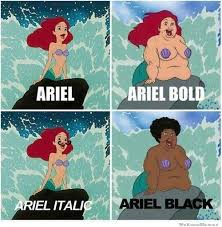 Ariel Fonts | WeKnowMemes via Relatably.com