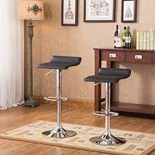 contemporary kitchen furniture detail. Roundhill Furniture Contemporary Chrome Air Lift Adjustable Swivel Stools Black Seat, Set Of 2 Kitchen Detail C
