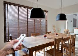 motorized window blinds. automatic wood blinds for your home motorized window