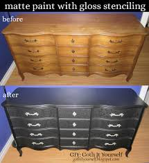 Goth Bedroom Furniture Giy Goth It Yourself Black Matte With Black Gloss Stenciling On