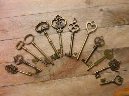 Skeleton Key Chart 20 Mixed Skeleton Keys Lot Wedding Keys Steampunk Antique