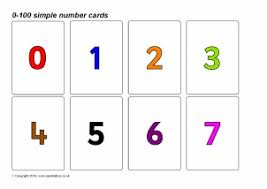 Number Flash Cards Primary Teaching Resources Printables