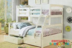 Brighton Double / Single Bunk features a federation style bunk bed with an  open head and