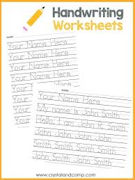 Letter Tracing Templates Tracing Name Template Handwriting Worksheets Picture Writing For