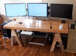 glisten wooden computer desk for gaming custom built