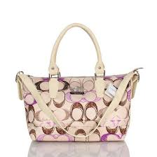 Coach In Monogram Large Apricot Totes BWS