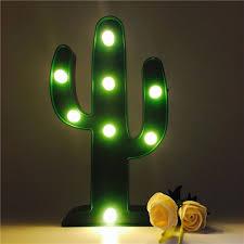 Amazoncom Led Cactus Light Dier Cute Night Table Lamp Light For