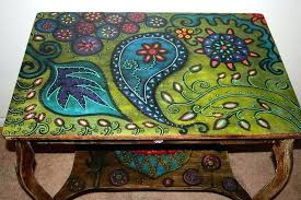 hand painted coffee table hand painted trunk coffee table