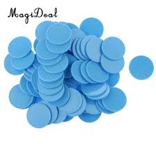 Bingo Lure Color Chart Magideal 100x 25mm Plastic Casino Poker Chips Bingo Markers Token Toy Gift Light Blue