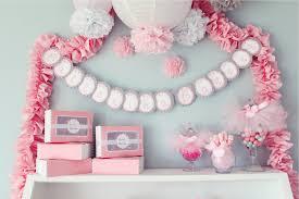 Pom Pom Decorations Tissue Paper Pompoms Girly Baby Shower Decorations Ballerina