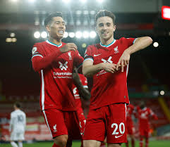 7:15pm, sunday 22nd november 2020. Liverpool 3 Leicester 0 Jota And Firmino Strike As Injury Hit Champions Coast Past Foxes To Go 64 Unbeaten At Anfield