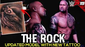 Wwe 2k19 The Rock Updated Entrance With New Updated Tattoo 2019 Pc Mods