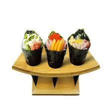 Ice Cream Cone Display Stand Impressive Bamboo Sushi Stations Icecream Cones Display Stand Wood Buffet