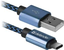 <b>USB</b> кабель Defender Type-<b>C</b> PRO, 2.1A, 1м, синий