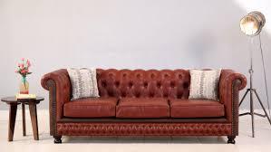 Sleek Wooden Sofa Designs Buy Crispix 3 Seater Chesterfield Sofa Fabric Indigo Ink