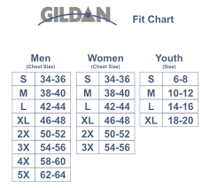 Gildan Youth Shirt Size Chart Sizing Stuff You Wear