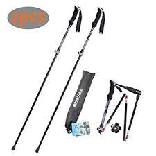 YAHILL <b>Folding</b> Trekking <b>Pole Collapsible</b> Stick <b>Ultralight</b> Adjustable