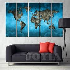 large framed world maps world map canvas art prints 5 panel large wall paintings set inside inspirations 7 large framed world map uk large framed antique