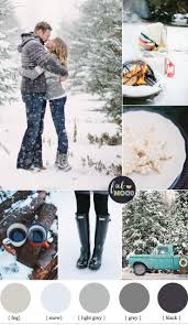 Winter Picnic Engagement Inspiration in shades of grey