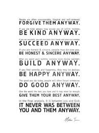 Quotes About Anyway 40 Quotes Gorgeous Love Quotes Love Anyway