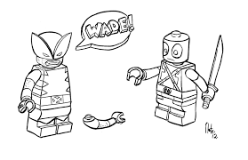Small Picture Lego Marvel Coloring Pages nywestierescuecom