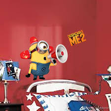 Minion Bedroom Wallpaper Cute Cartoon Minions Wall Art Decal Sticker Home Art Decoration
