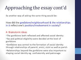 unit area of study social life in renaissance florence ppt  approaching the essay cont d