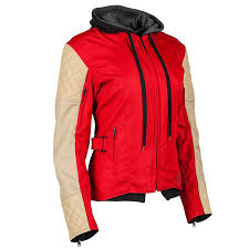 sd and strength women s double take textile jacket red cream xsm 884309 com