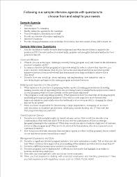 job interview template free job interview agenda templates at allbusinesstemplates com