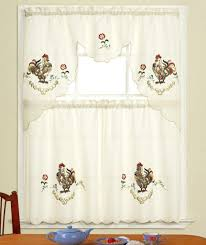 For Kitchen Curtains Fresh Country Rooster Kitchen Curtains 14228