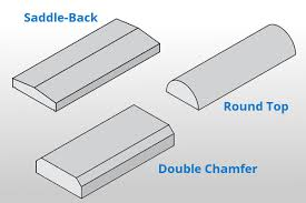 saddle back precast concrete wall caps