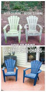 plastic patio chairs. Figuring Out How To Properly Paint Plastic Patio Chairs Is A Great Way Bring New C