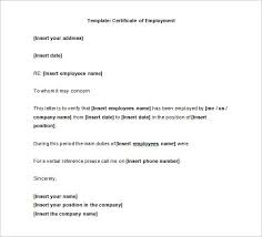 Example Certificate Certificate Of Employment Sample For
