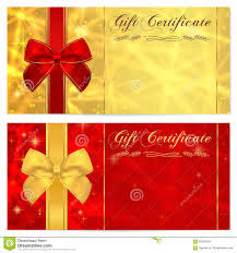 voucher gift certificate coupon template bow royalty stock gift certificate voucher coupon invitation or gift card template sparkling twinkling