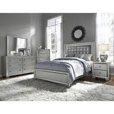 Celestial 4-Piece King Bedroom Set in Silver | Nebraska Furniture ...
