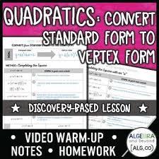 quadratic functions convert from