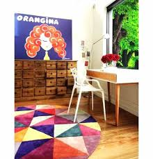 bright rugs uk home office with colorful round area rug enhance your room