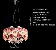 modern crystal chandelier lamps for kitchen luxury hotel rooms rose flower entry foyer lighting with e14