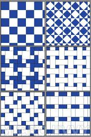 1144 Scale Floor Tiles Part 2 Blue and White MicroJivvy