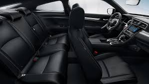 2018 civic coupe interior leather trimmed seating