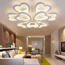 living lighting home decor. Modern Led Ceiling Lights For Living Room Bedroom Lamp Acrylic Heart Shape Lighting Home Decor Lamps Pendant Light O