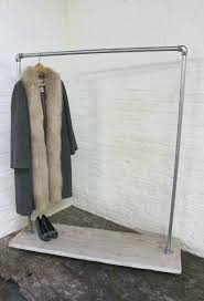 Industrial Pipe Coat Rack Mesmerizing Industrial Coat Hook Industrial Galvanized Pipe Clothes Rack On