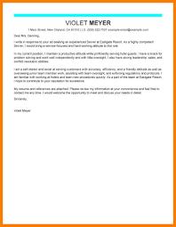 Cover Letter For A Server 8 9 Restaurant Server Cover Letters Tablethreeten Com