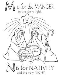 Manger Scene Coloring Pages Manger Scene Coloring Page Pages To