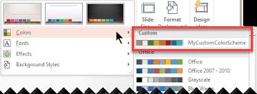 Excel Slice Theme Create Your Own Theme In Powerpoint Powerpoint