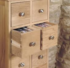 baumhaus mobel solid oak extra. Baumhaus Mobel Oak Multi Drawer CD And DVD Storage Chest Solid Extra