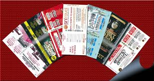 Samples Of Tickets For Events Ticket Printing Security Tickets Foil Blocked Tickets