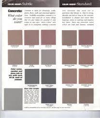 Davis Concrete Color Chart Concrete