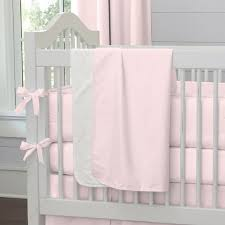 girl baby crib bedding solid pink crib
